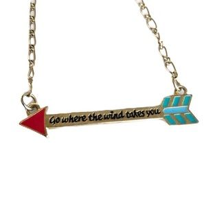 "Jewelry - Arrow necklace ""Go where the wind takes you"""